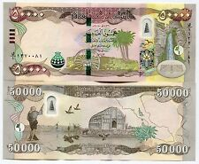 50000 New Iraqi Dinars 2015 with New Security Features - IRAQ DINAR UNC 50 000
