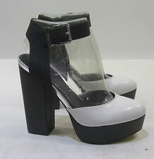 "Circus Black/white 5.5""High block Heel round Toe Ankle Strap Sexy Shoes Size 7.5"