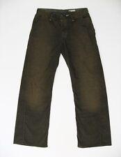 Men's ROGAN Corduroy, Wide Straight Leg Jeans in Faded Dark Olive size 31W