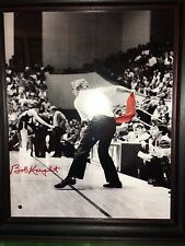 Bobby Knight Autographed Authenticated Hologram Coa 20x25 Basketball Chair Throw
