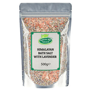 Himalayan Bath Salt with Lavender 500g - Free UK Delivery