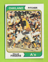 1974 Topps - Rollie Fingers (#212)  Oakland Athletics    ZX