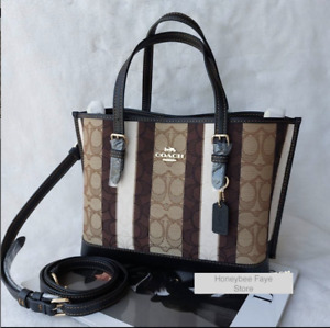 NWT Coach Mollie Tote 25 In Signature Jacquard With crossbody strap