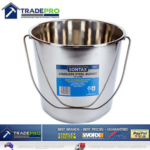 Stainless Steel Bucket with Handle 16Ltr HDuty Premium Quality NewModel 16L Pail