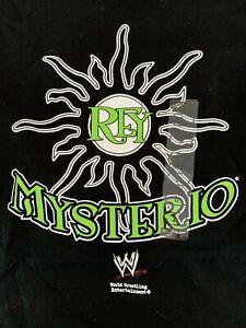 Rey Mysterio Jr. Sun Logo WWE T-Shirt M Medium NXT Steve and Barry AAA 619