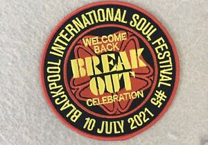Blackpool Int Soul Festival 2021 Embroidered patch