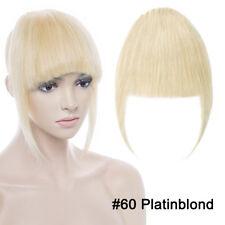 100% Remy Echthaar Pony Bang Clip In Human Hair Extensions Haarverlängerung K457