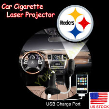 1x Pittsburgh Steelers Logo Car Cigarette Laser Projector CREE LED Shadow Light