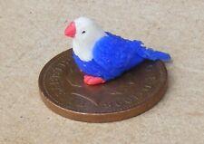 1:12 Scale Polymer Clay Blue Bird With Red Feet & Beak Tumdee Dolls House ZD