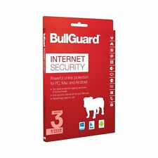BULLGUARD INTERNET SECURITY 2018 - 3 PC  - Genuine retail version - Sealed Pack