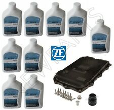 For BMW 8HP AT Service Kit Oil Pan & Filter Kit Gasket Plugs 9L Fluid ATF ZF