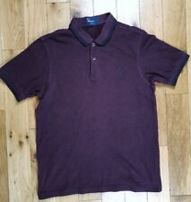 Mens Fred Perry Burgundy Slim Fit Polo Shirt Size Medium