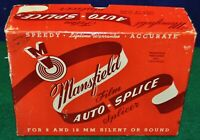 Vintage Mansfield 8 &16 mm Silent & Sound Film Auto-Splice Film Splicer w/box