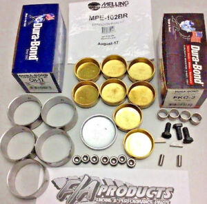 Big Block Chevy 1967 Up Engines Cam Bearings / Brass Freeze Plugs / Dowels Kit