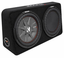 "Kicker 43TCWRT124 COMPRT12 1000 Watt 12"" Shallow Car Subwoofer+Sub Box Enclosure"