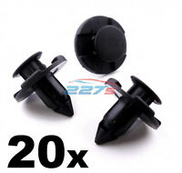 20x 8mm Plastic Trim Clips for some Nissan Wheel Arch Liners / Engine Bay Shield