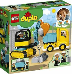 KIDS Gifts LEGO DUPLO Truck And Tracked Excavator Building Kit Toy Boy Girl Xmas