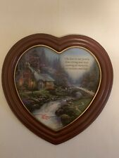 New ListingThomas Kinkade Heart-Shaped Plaque Memories of Home Limited Edition