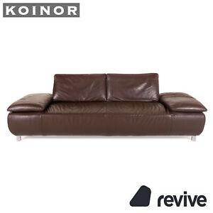 Koinor Volare Leather Sofa Braun Three-Seater