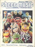 Sheet Music Magazine Jan 1982 Organ Ed Muppet Show Theme Improvisation Imagine