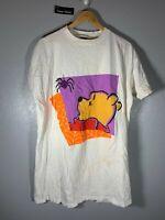 Vintage Pooh The Bear Halloween Spider Sleeper White Shirt
