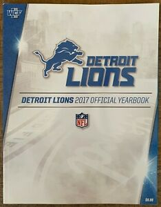 2017 DETROIT LIONS YEARBOOK NFL SUPER BOWL CHAMPIONS 2018 SUPERBOWL FOOTBALL