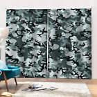 graffiti with camouflage background Printing 3D Blockout Curtains Fabric Window
