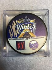 NICK HOLDEN SIGNED 2018 WINTER CLASSIC PUCK NEW YORK RANGERS w/CASE