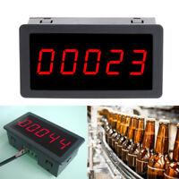 "DC 12-24V Red 5 Digit 0.56"" LED Panel Counter Meter Up Plus Totalizer 0-99999"