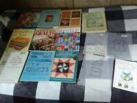 LOT OF 10 QUILTING BOOKS plus PATTERN FOR NEWPORT BAG + TEMPLATES
