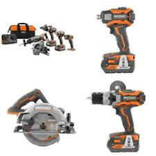 18-Volt Lithium-Ion Cordless 5-Tool Combo Kit with (2) 4.0 Ah Batteries, 18-Volt