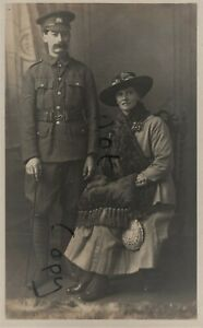 WW1 Soldier Volunteer Force Essex ? with Wife