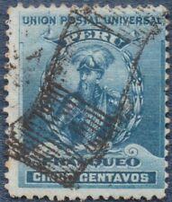 PERU 1896  5 Cents  Good Used   (B125) Unusual cancel