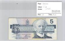BILLET CANADA - 5 DOLLARS 1986