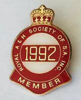 1992 Royal Agricultural Society Of South Australia Member Badge Pin Rare (H4)