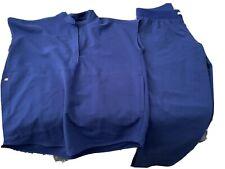 Figs scrubs Set, Xs Top, Small Petite Bottom Blue