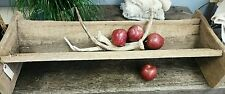 Antique Farm Country Rustic Wood Trough Trench Primitive Bowl Vessel Brocante
