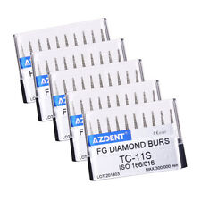 5sets Dental Diamond Burs Tips For High Speed Handpiece TC-11S 10pcs/box AZDENT