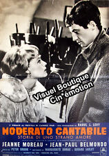 Affiche 47x67cm MODERATO CANTABILE (1960) Jean-Paul Belmondo, Jeanne Moreau BE #