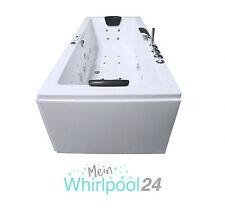 Whirlpool Badewanne Rechteck - Rügen Premium | 2 Personen, Whirlwanne Indoor NEU