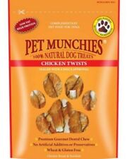 Pet Munchies Chicken Twists~ 4 x Packs (80g/Pack) ~ Premium Gourmet Dental Chews