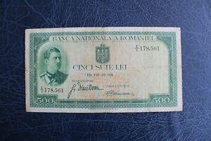 Romania 1934 500 Lei VG Rare