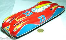 RARE VINTAGE TIN PLATE TOY PUSH ALONG CHAD VALLEY FERRARI RACE SPORTS CAR 1950S