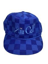 Aircell Rope Hat Checkered Blue Nissin Cap Good Used Condition Rare