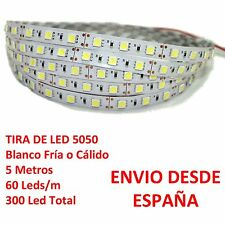 Striscia de Led 5050 IMPERMEABILE Bianco Ghiaccio o Caldo Waterproof IP65 60 LED