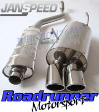 Janspeed exhaust Peugeot 206 GTi 180bhp CAT BACK SYSTÈME Inoxydable Twin SS506