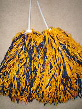 Pair of Navy & Gold Multi-Color Rooter Pom Poms *San Diego Chargers Colors*