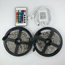 10M 2x 5M 5050 SMD Strip light 150 LED RGB + 24 IR Remote With 2 Outputs