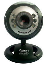 Quantum 25 MP USB Webcam Mic Chat Video 6 Lights, Night Vision WebCam Camera