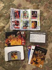 Hercules: The Legendary Journeys (Nintendo 64, 2000) Complete In Box Authentic !